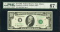 Small Size:Federal Reserve Notes, Fr. 2016-F* $10 1963 Federal Reserve Star Note. PMG Superb Gem Unc 67 EPQ.. ...