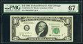 Small Size:Federal Reserve Notes, Fr. 2016-G* $10 1963 Federal Reserve Star Note. PMG Superb Gem Unc 67 EPQ.. ...