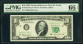 Small Size:Federal Reserve Notes, Fr. 2016-H* $10 1963 Federal Reserve Star Note. PMG Gem Uncirculated 66 EPQ.. ...