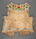 American Indian Art:Beadwork and Quillwork, A Plateau Beaded Hide Vest...