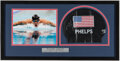 Olympic Collectibles:Autographs, Michael Phelps Signed Swim Cap Display....