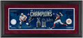 Autographs:Photos, Alexander Ovechkin & Stephen Strasburg Multi-Signed Display - Game Used Net Piece & Dirt!...