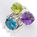 Estate Jewelry:Rings, Multi-Stone, White Gold Ring. ...