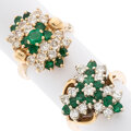 Estate Jewelry:Rings, Emerald, Diamond, Gold Rings. ... (Total: 2 Items)