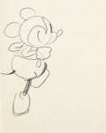 Animation Art:Production Drawing, Steamboat Willie Mickey Mouse Animation Drawing by Ub Iwerks (Walt Disney, 1928). ...