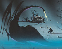 Eyvind Earle Sleeping Beauty Maleficent and Prince Phillip Concept Painting (Walt