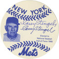 Autographs:Photos, Casey Stengel Double Signed Photograph. A New York Mets promotionalpiece, with the image and facsimile signature of the Ha...