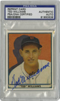 Autographs:Sports Cards, Ted Williams Signed Card, PSA Authentic. Top-notch example of theHall of Fame slugger Ted Williams' coveted autograph resi...