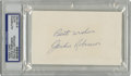 "Autographs:Index Cards, Jackie Robinson Signed Index Card, PSA Authentic. Unlined 3x5"" index card that we see here has been signed by civil rights h..."