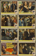 "Movie Posters:Mystery, Grand Central Murder (MGM, 1942). Lobby Card Set of 8 (11"" X 14"").Mystery.... (Total: 8 Items)"