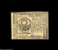 Colonial Notes:Continental Congress Issues, Continental Currency February 26, 1777 $30 Gem New. A real ...