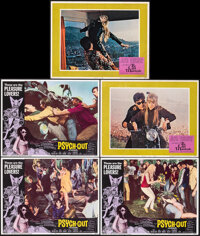 """Psych-Out & Other Lot (American International, 1968). Overall: Very Fine. Lobby Cards (5) (11"""" X 14""""), Min..."""