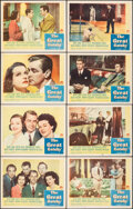 """Movie Posters:Drama, The Great Gatsby (Paramount, 1949). Fine+. Lobby Card Set of 8 (11"""" X 14""""). Drama.. ... (Total: 8 Items)"""