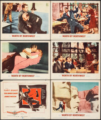 """North by Northwest (MGM, 1959). Fine+. Title Card and Lobby Cards (5) (11"""" X 14""""). Hitchcock. ... (Total: 6 It..."""