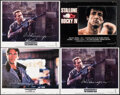 """Movie Posters:Science Fiction, The Terminator & Other Lot (Orion, 1984). Folded, Very Fine. Autographed Lobby Cards (3) (11"""" X 14""""), Argentinean One Sheets... (Total: 7 Items)"""