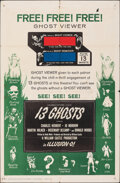 """Movie Posters:Horror, 13 Ghosts (Columbia, 1960). Folded, Fine+. One Sheet (27"""" X 41"""") & Lobby Cards (5) (11"""" X 14""""). Horror.. ... (Total: 6 Items)"""