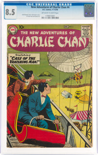 The New Adventures of Charlie Chan #4 (DC, 1958) CGC VF+ 8.5 Off-white to white pages