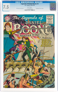 Legends of Daniel Boone #2 (DC, 1955) CGC VF- 7.5 White pages