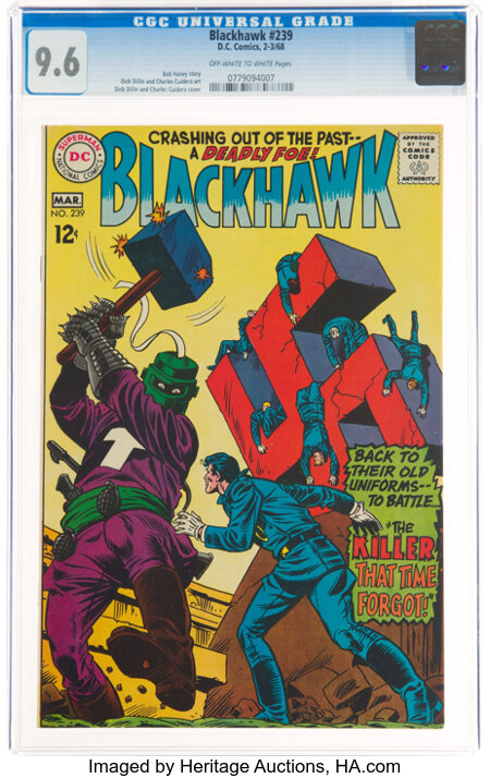Blackhawk #239 (DC, 1968) CGC NM+ 9.6 Off-white to white pages....