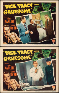 """Dick Tracy Meets Gruesome (RKO, 1947). Very Fine-. Lobby Cards (2) (11"""" X 14""""). Crime. ... (Total: 2 Items)"""