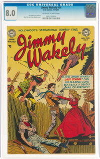 Jimmy Wakely #14 (DC, 1951) CGC VF 8.0 Off-white to white pages