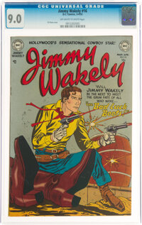 Jimmy Wakely #16 Mohawk Valley Pedigree (DC, 1952) CGC VF/NM 9.0 Off-white to white pages