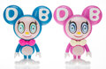 Collectible, Takashi Murakami X MoMA. DOB-kun (Fuchsia and Blue) (set of 2), 2019. Painted cast vinyl. 9 x 7 x 4 inches (22.9 x 17.8 ... (Total: 2 Items)