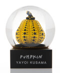 Collectible, Yayoi Kusama X MoMA. Snow Globe (Pumpkin), 2019. Glass, polyresin, and water. 3 x 2-1/2 inches (7.6 x 6.4 cm). Produced ...