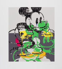 Ben Allen (b. 1979) Deconstructed Mickey, 2020 UV print with gloss varnish on Hahnemuhle Velvet paper 27 x 24 inches