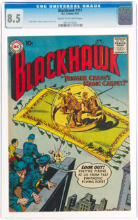 Blackhawk #111 (DC, 1957) CGC VF+ 8.5 Cream to off-white pages