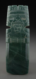 Pre-Columbian:Stone, A Large and Fine Jade Axe God Pendant...