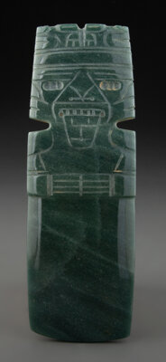 A Large and Fine Jade Axe God Pendant