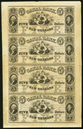 New Orleans,LA- Canal Bank $5-$5-$5-$5 Uncut Sheet About Uncirculated