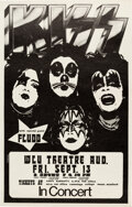 Music Memorabilia:Posters, KISS 1974 First-Album-Tour Concert Poster from Ontario, Canada....