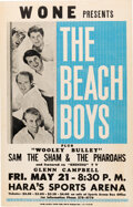 Music Memorabilia:Posters, The Beach Boys 1965 Dayton, OH Classic Blue & White Concert Poster. ...