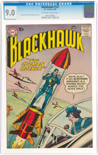 Blackhawk #123 (DC, 1958) CGC VF/NM 9.0 Off-white to white pages