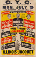 """Music Memorabilia:Posters, Chuck Berry, Carl Perkins """"Top Record Stars of '56"""" Early Rock 'n' Roll Concert Poster...."""