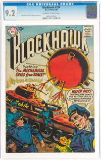 Blackhawk #124 (DC, 1958) CGC NM- 9.2 Off-white to white pages