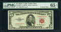 Small Size:Legal Tender Notes, Fr. 1533* $5 1953A Legal Tender Star Note. PMG Gem Uncirculated 65 EPQ.. ...