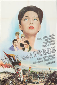 """War and Peace (Sovexportfilm, 1965). Folded, Fine+. English Language Russian Poster (42.25"""" X 63""""). Foreign..."""