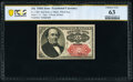 Fractional Currency:Fifth Issue, Courtesy Autograph Fr. 1309 25¢ Fifth Issue PCGS Banknote Choice Unc 63.. ...
