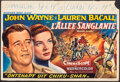 """Movie Posters:Action, Blood Alley (Warner Bros., 1956). Folded, Fine/Very Fine. Belgian (14.75"""" X 21.5""""). Action.. ..."""