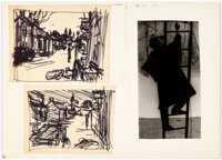Morton Künstler The Right of Privacy Art-Rehearsal Sketches and Reference Photograph Preliminary Original Art