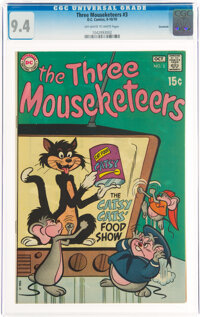 The Three Mouseketeers #3 Savannah Pedigree (DC, 1970) CGC NM 9.4 Off-white to white pages