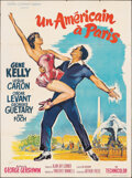 """Movie Posters:Academy Award Winners, An American in Paris (MGM, R-1960s). Folded, Very Fine-. Signed French Grande (47.25"""" X 63"""") Roger Soubie Artwork. Academy A..."""