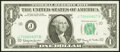 Small Size:Federal Reserve Notes, Fancy Serial Number 70666607 Fr. 1901-J $1 1963A Federal Reserve Note. Choice Crisp Uncirculated.. ...