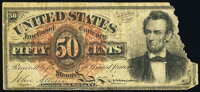Fr. 1374 50¢ Fourth Issue Lincoln Very Good