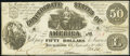 Confederate Notes:1861 Issues, T14 $50 1861 Fine-Very Fine.. ...