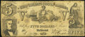 Confederate Notes:1861 Issues, CT37 Counterfeit $5 1861 Very Good.. ...