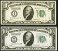 Small Size:Federal Reserve Notes, Fr. 2001-A; G $10 1928A Federal Reserve Notes. Very Fine; ...